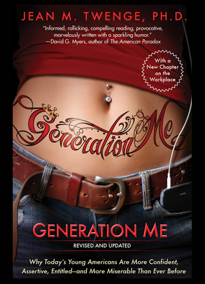 jean m twenge s generation me Jean m twenge is a professor of psychology at san diego state university and the author of generation me and igen.